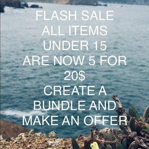 FLASH SALE!!!